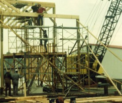 Framing Boat Slips, Deltaville, Virginia.1991