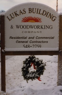 First Job Site Sign. January 1986.